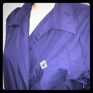 FREE with purchase. L navy blue button shirt